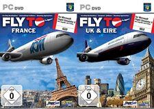 FLY per la Francia & Fly Per Regno Unito e in EIRE per x Simulatore di volo Microsoft Nuovo e Sigillato