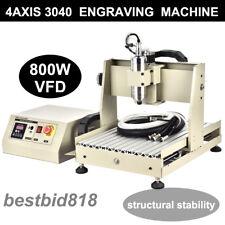 800W VFD 4 Axis CNC Router MILLING 3D Engraving Engraver Fresa Meccaniche 3040