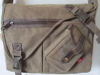 New Large Canvas School College travelling Shoulder Satchel Messenger Bag