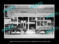 OLD LARGE HISTORIC PHOTO OF HAMLET NORTH CAROLINA THE CP&L POWER Co CREW c1915