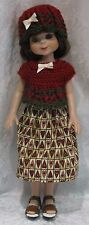 "BETSY McCALL 14"" Doll Clothes #58 Hat, Top & Skirt Set  13"" LES CHERIES Corolle"