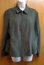 Sonoma dark green jacket size petite large - excellent condition