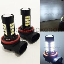 H11 Samsung LED 42 SMD Bright White 6000K Headlight 2x Light Bulbs #x1 Low Beam