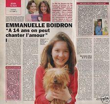 Coupure de presse Clipping 1993 Emmanuelle Boidron  (1 page 1/2)