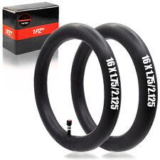 2 Heavy Duty Inner Tube 16 x 1.75 - 2.125 Bike Bicycle Rubber Tire Interior BMX