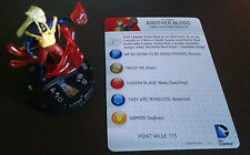 Brother Blood #051 SR Teen Titans Heroclix set with card super rare