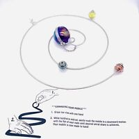 """New Expanding Glass And Metal Hanging Solar System Multicolored 8"""""""