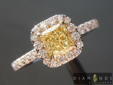 .69ct Fancy Yellow VS2 Cushion Cut Diamond Ring GIA R6877 Diamonds by Lauren