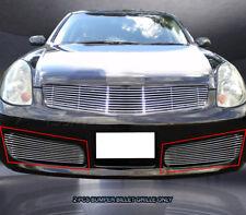 Fits 2003-2004 Infiniti G35 Sedan Bumper Billet Grille Grill Bumper