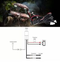 12V 40A LED Work Fog Light Bar Wiring Harness Kit ON/OFF Switch Relay Cable KIT