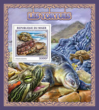 Niger 2016 MNH Turtles 1v S/S Common Snapping Turtle Reptiles Stamps