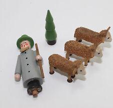 5 Vintage Antique Christmas Putz Erzgebirge Deer Tree & Man- Germany