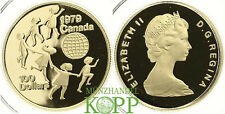 Aa1238) Canada 100 dollari Canada anno del bambino oro 1979