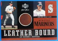 """2001 JAY """"BONE"""" BUHNER GOLD GLOVE SEATTLE MARINERS UPPER DECK AUTHENTIC 1-OWNER"""
