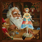 The Gift for Mrs. Claus, Signed Canvas Ed. by James C. Christensen AP # 24/25