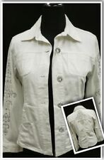 Chicos White Button Up Jacket with Sparkly Bling Sz 1 *Worn 1x