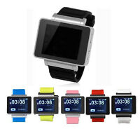 1.8'' GSM Unlocked Quadband Touch Watch Cell Phone Camera DV  Bluetooth MP3/4 i3