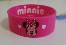 Disney Licensed Minnie Mouse Rubber Bracelet Wristband Hearts Super Cute New