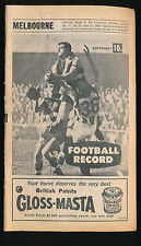 1968 VFL Football Record Melbourne v Essendon June 22 Demons Bombers