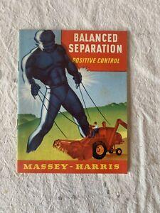 Vintage 1950s Massey Harris Combine Super 27 Sales Brochure Booklet Harvester