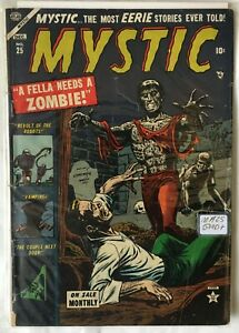 GOLDEN Age MYSTIC Comics #25 ZOMBIE COVER! Pre-Code HORROR GD+ 2.5 1953