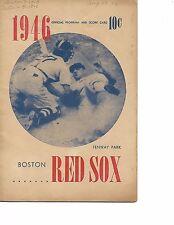 1946 Boston Red Sox-Tigers Program Tigers Top Sox in 14th Williams HR!!