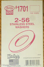 Kadee #1701 / 2/56 Stainless Steel Washers (12 in package)