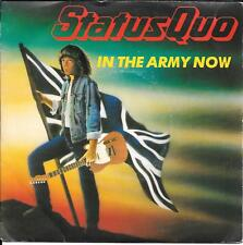 """45 TOURS / 7"""" SINGLE--STATUS QUO--IN THE ARMY NOW / HEARTBURN--1986"""