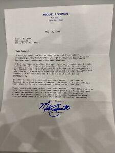 Michael Mike Schmidt Autographed Letter MLB