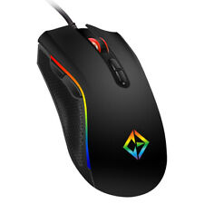COMBRITE Rainbow RGB LED Gaming Mouse USB Wired Programmable 7 Button Mice Gamer