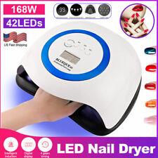 168W Ornate Professional Led Uv Nail Dryer Gel Polish Glue Lamp Salon Manicure m