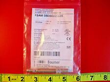 Baumer FSAM 08D9002/S35 Sensor Through Beam 3 Pin 10-30vdc 2.5m 10238037 Nib New