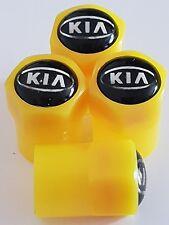 KIA yellow valve DUST CAPS PLASTIC NON STICK All cars 7 colours sportage ceed