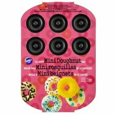 New listing Wilton 12 Cavity Mini Doughnut Pan Non-Stick Bakeware with Donut Recipes 10 x 7