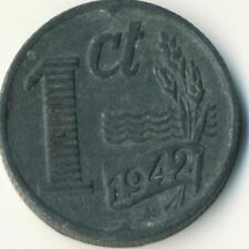 COIN / THE NETHERLANDS / 1 CENT 1942  #WT7924