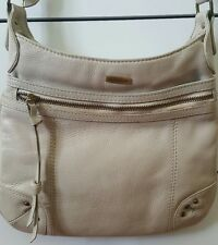 ANNAPELLE Beige Leather Soft Shoulder Cross Body Bag Handbag