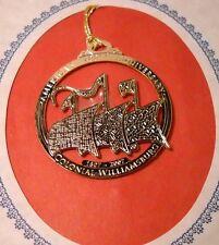 Colonial Williamsburg Ornament - Gold on Brass - America's 400th Anniv. (O88)