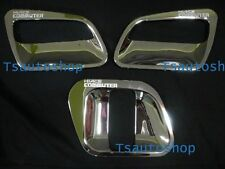 FOR TOYOTA HIACE COMMUTER 2005-2013 CHROME 3 DOOR HANDLE BOWL COVER TRIM