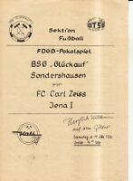 FDGB-Pokal 86/87  Sondershausen-FC Carl Zeiss Jena