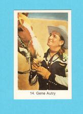 Gene Autry Vintage 1970s Movie Film Cowboy Star Card from Sweden #14