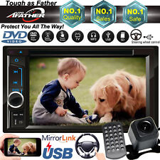 2 Din CD DVD Car Stereo Audio Vedio Fast System AUX Mirror Link For GPS Nav+Cam
