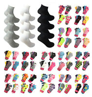 Women 12 Pairs Athletic Sports Low Cut Quarter Ankle Crew Cotton Thin Socks Lot