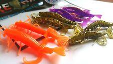 Set 8 x Gummifische RELAX Kopyto Shrimps 8 cm,Raubfischangeln Weichplastikköder
