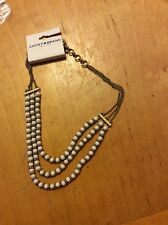 Semiprecious Ivory Tone,Triple Layer 208 Lucky Brand Authentic Gold Tone,