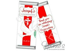 Confirmation Candy Bar Wrappers - Religious Event or Ordination (SET OF 12)