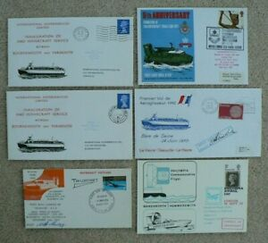 4 Hovercraft Related Covers + 2 Postcards