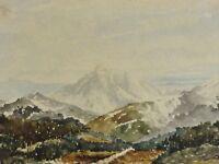 Julius-? Schwartz (XIX) antik Alpen Aquarell 1876: WALDRASTSPITZ BEI INNSBRUCK