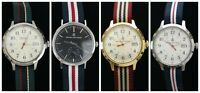 Brooks Brothers Men's Silver/Gold Toned Wrist Watch Japan Movement  - NEW