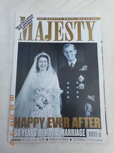 MAJESTY  VOL 28  NO 11  NOVEMBER 2007   60 YEARS OF ROYAL MARRAIGE,