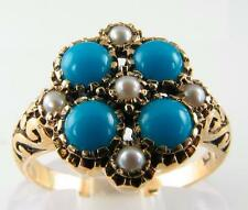 Turquoise Yellow Gold Victorian (1837 - 1901) Fine Rings